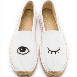 Soludos wink leather espadrilles Size 7